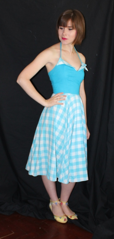 6f2dfdfce Next off in my string of summer dresses was this lovely blue number that  came from Rainbow valley vintage. I'd intended selling this dress on, ...