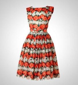 M&S 1950s ground nylon floral dress